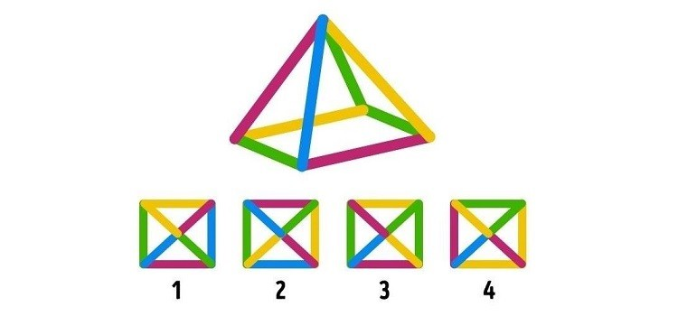 זהו את הפירמידה ממבט תחתון